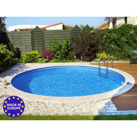 piscina rotonda rigida fuori terra interrabile o semi