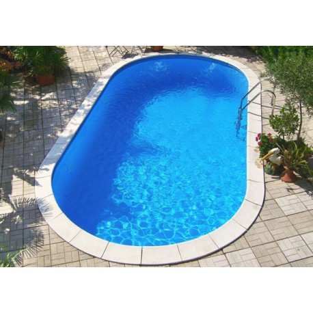 Piscina ovale interrata in kit 5 x 3 metri maldive for Piscine enterree 6x4