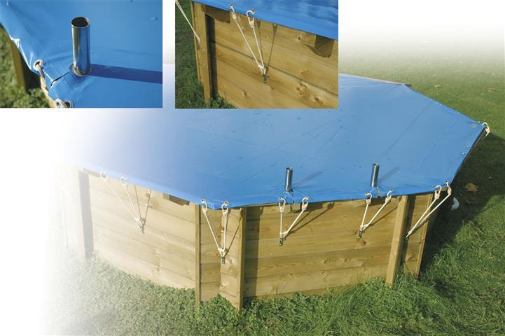 Copertura invernale diametro 580 cm per piscina in legno for Copertura invernale piscina gre