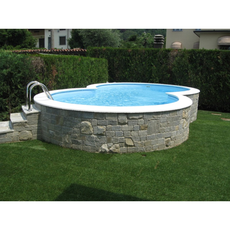 Piscina a otto fuori terra interrabile 5 25 x 3 20 m for Piscine semi rigide rectangulaire