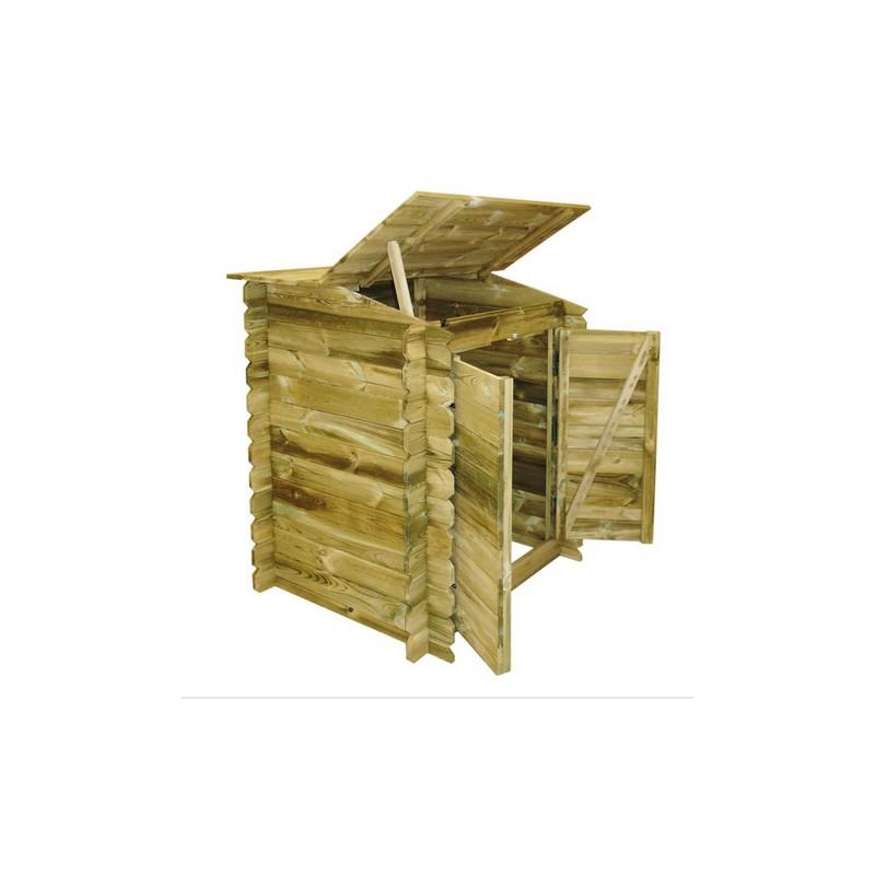 locale tecnico classic ubbink in legno per piscine