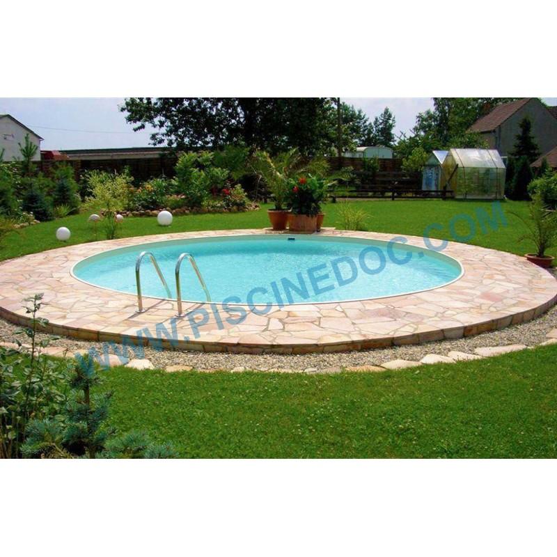 Piscina rotonda interrata o fuori terra 4 m di diametro for Piscina rotonda