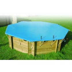 Piscina in legno ocea 510 ubbink 5 10 prezzo pi basso for Copertura invernale piscina gre