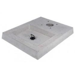 Base cemento cm 50 x 40 con vaschetta - 42/BSC/4