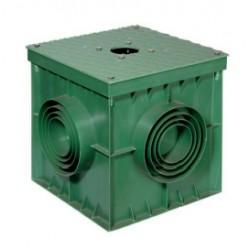Base pozzetto in PVC con piastra in metallo preforata 42/POZ