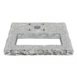 Base quadrata in granito con area di riempimento per ciottoli Bel Fer 42/BSQ