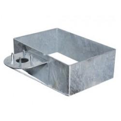 Base rettangolare in acciaio zincato da riempire con ciottoli Bel Fer 42/BSZ