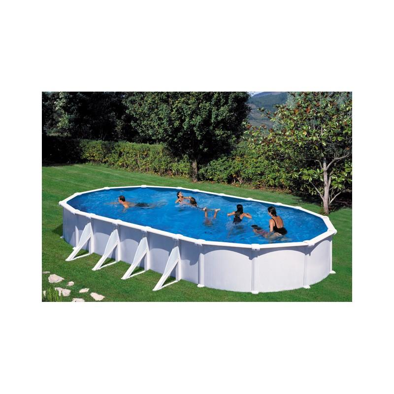 Piscina gre atlantis 915 x 470 cm h 132 ovale fuori terra dream pool - Filtro a sabbia piscina ...