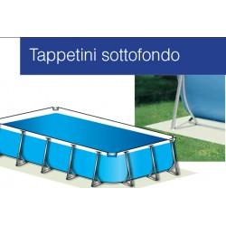 Telo base o tappeto di sottofondo per piscina fuori terra - Tappeto per piscina fuori terra ...