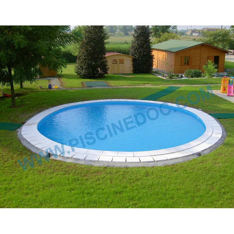 Piscina gre sumatra diam 3 50 m h 120 cm interrata tonda for Liner piscine 350 x 120