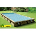 Piscina in legno 500 x 800 m rettangolare Linea 800 Ubbink