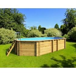 Ecowood Tropic Octo + 510 - 4,95 x 3,45 x h 120 cm - piscina in legno fuori terra