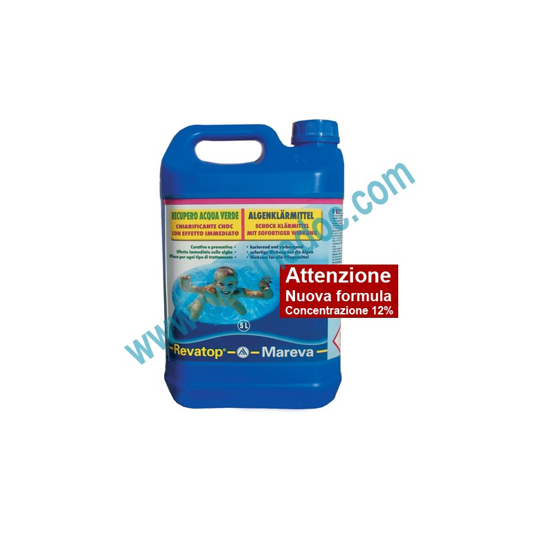 Revatop mareva trattamento antialghe per recupero acqua for Antialghe per piscine