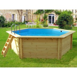 Ecowood Tropic Hexa 410 - diametro 403 cm x h 120 cm - piscina in legno fuori terra