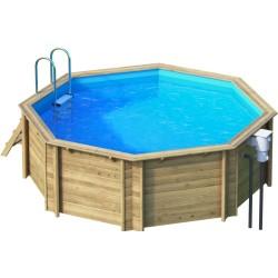 Ecowood Tropic Octo 414 - diametro 414 cm x h 120 cm - piscina in legno fuori terra