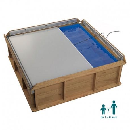 NaturalWood PISTOCHE - 2,26 x 2,26 x h 0,63 cm - piscina in legno fuori terra