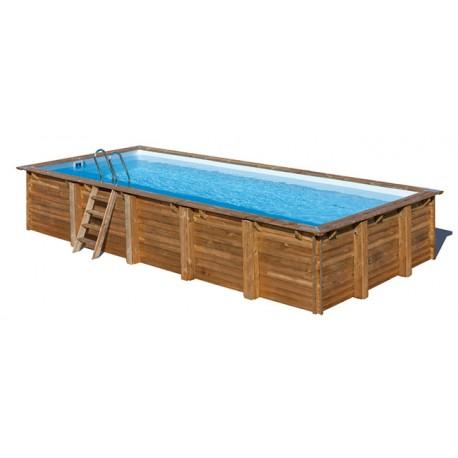 Piscina GRE ANISE rettangolare in legno 9,00 x 3,00 m - h 1,46 m