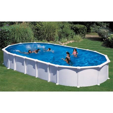 Piscina gre haiti 800 x 470 cm h 132 ovale fuori terra dream pool - Filtro piscina a sabbia ...