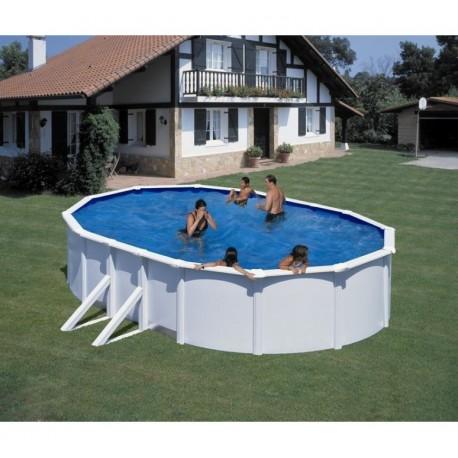 Piscina GRE FIDJI 500 x 300 cm ovale - h 1,20 m filtro a sabbia fuori terra rotonda