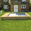 URBAINE kit EASY - NaturaWood - 4,20 x 3,50 x h 133 cm - piscina in legno