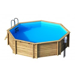 Ecowood Tropic Octo 505 - diametro 505 cm x h 120 cm - piscina in legno fuori terra