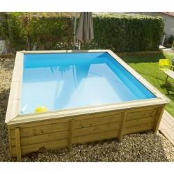 Ecowood Tropic JUNIOR - 226 x 226 cm x h 68 cm - quadrata - piscina in legno fuori terra