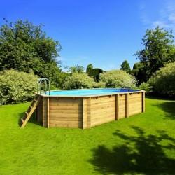 Ecowood Tropic Octo + 450 - 4,52 x 3,13 x h 120 cm - piscina in legno fuori terra