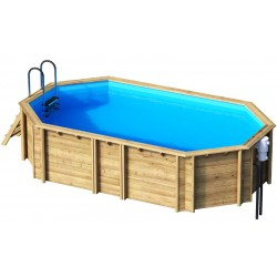 Ecowood Tropic Octo + 540 - 5,23 x 3,13 x h 120 cm - piscina in legno fuori terra