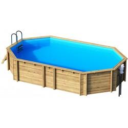 Ecowood Tropic Octo + 640 - 6,27 x 3,86 x h 120 cm - piscina in legno fuori terra