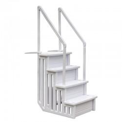 Scaletta sintetica Gre in HDPE per piscina interrata - 4 gradini