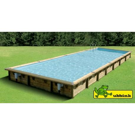 Piscina in legno 500 x 1100 m rettangolare Linea 1100 Ubbink