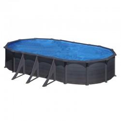 Piscina GRE GRANADA 730 x 375 cm - h 1,32 m filtro a sabbia fuori terra ovale