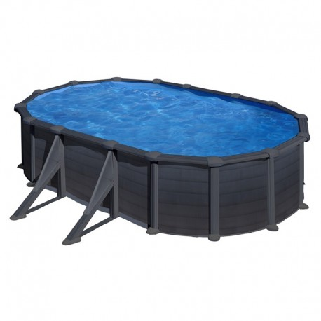 Piscina GRE GRANADA 610 x 375 cm - h 1,32 m filtro a sabbia fuori terra ovale
