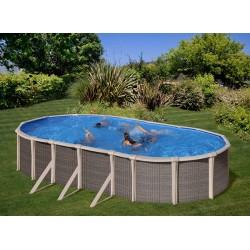 Piscina GRE FUSION POOL 760 x 460 cm - h 1,35 m filtro a sabbia fuori terra ovale