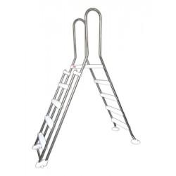 Scaletta INOX SAFE a PONTE 4 + 4 gradini acciaio Inox