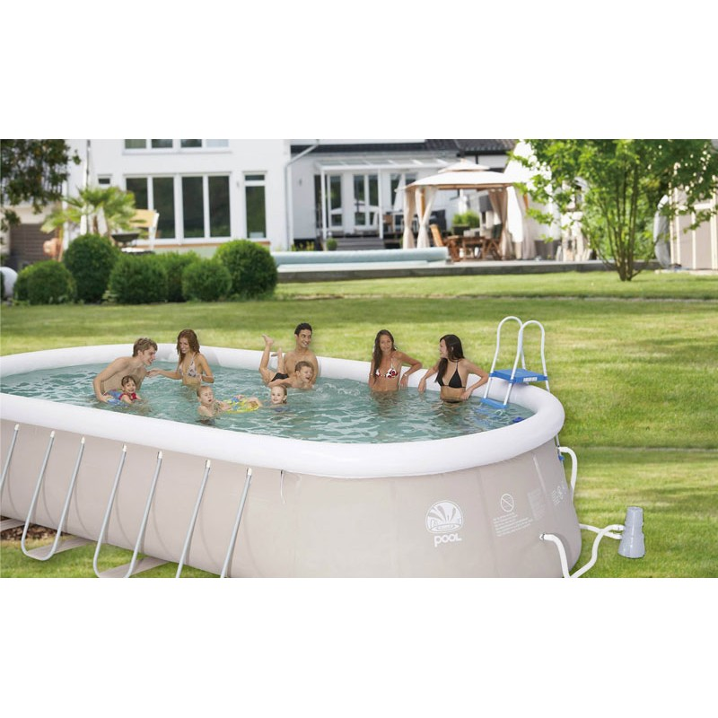 Piscina chinook grey 540 x 304 ovale fuori terra prezzo for Piscine jilong ovale