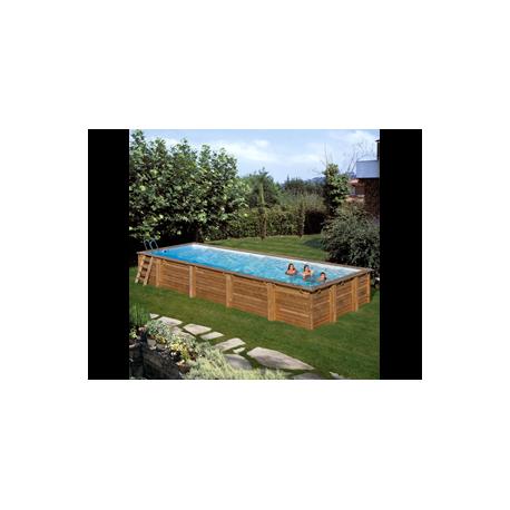 Piscina GRE MINT rettangolare in legno 10,18 x 4,27 m - h 1,46 m