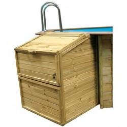 Locale tecnico Gre 100 x 88 x h 131 cm per piscine in legno