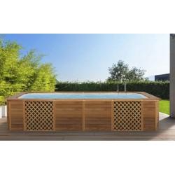 Piscina rettangolare Natural Wood Solaire Newplast
