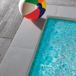 Bordo DRITTO piatto CAPRI Autentika - GRIGIO MIX - per piscina