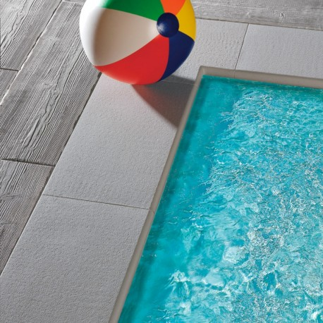 Bordo DRITTO piatto CAPRI Autentika - GRIGIO MIX - per piscina