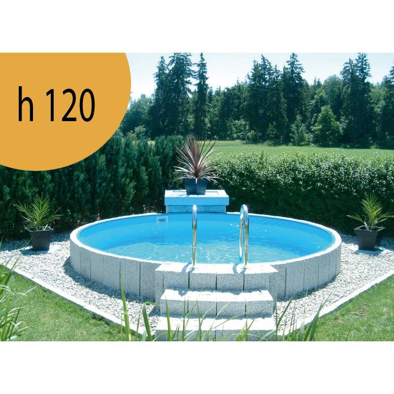 Piscina rotonda fuori terra interrabile diametro 500 cm - Costo manutenzione piscina ...
