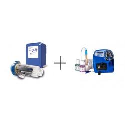 GRE SALT SYSTEM + CPH14 elettrolisi salina e regolatore di Ph fino a 60 mc