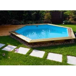 Ecowood Onda 434 - 4,34 x 3,76 m x h 1,16 m - piscina in legno