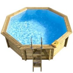 Ecowood Onda 537 - 5,37 x 4,96 m x h 1,18 m - piscina in legno