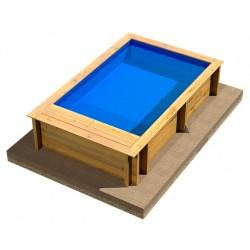 Ecowood BWT Pool'n Box Junior - 3,70 x 2,40 x h 76 cm - piscina in legno