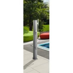 Doccia solare Jolly Go in alluminio 20 litri con miscelatore e lavapiedi