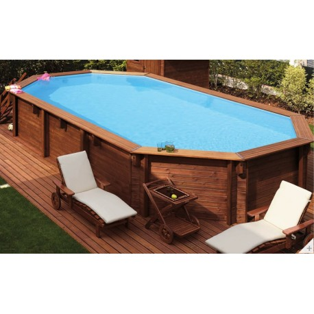 Ecowood Stella Easy 600  - 6,07 x 3,96 m x h 1,31 m - piscina in legno