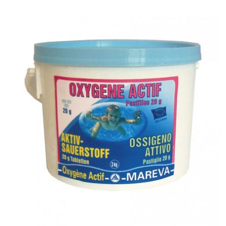 Ossigeno attivo mareva in pastiglie da 20 gr disinfettante - Ossigeno attivo per piscine ...