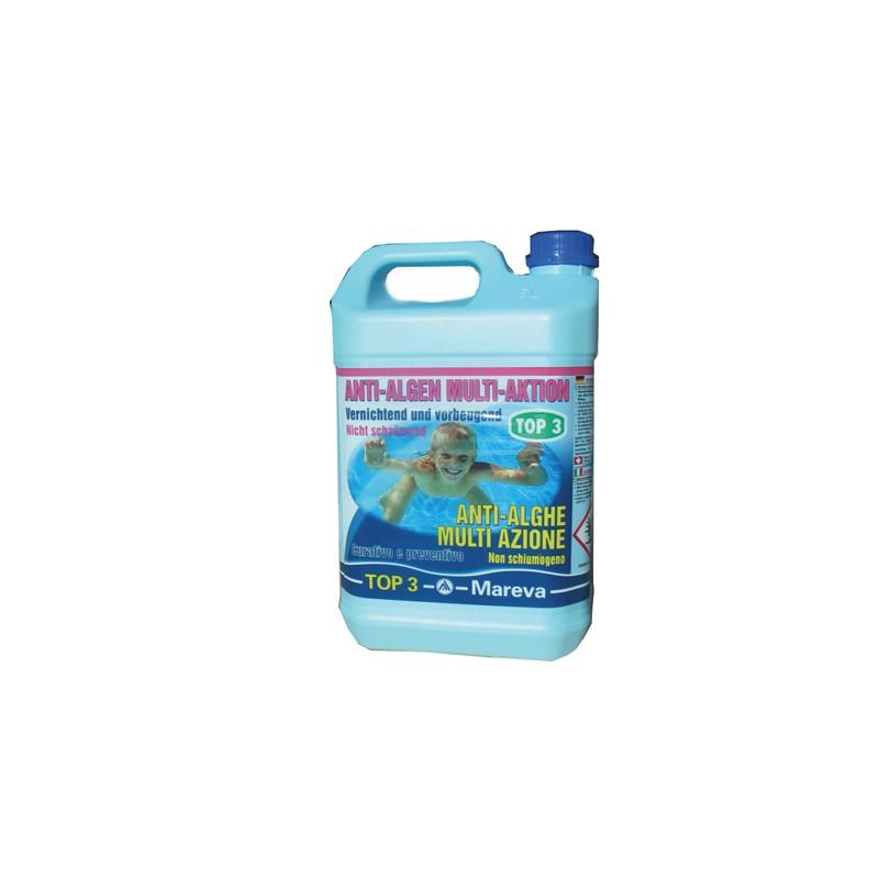 Top 3 mareva antialghe multiazione non schiumogeno per for Antialghe per piscine